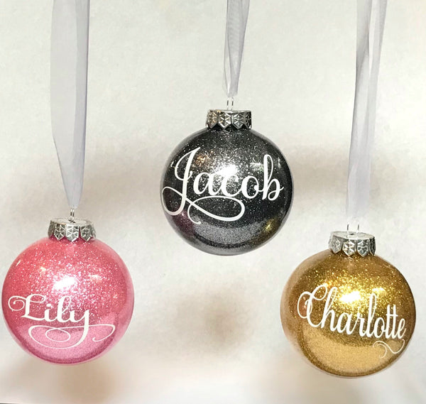 Personalised Christmas Baubles - Signature Release