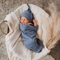 Snuggle Swaddle Sack and Beanie Set - Indigo