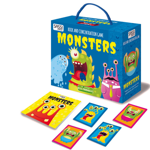Monsters Book and Memory Game Box Set