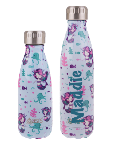 Mermaids Personalised Drink Bottle