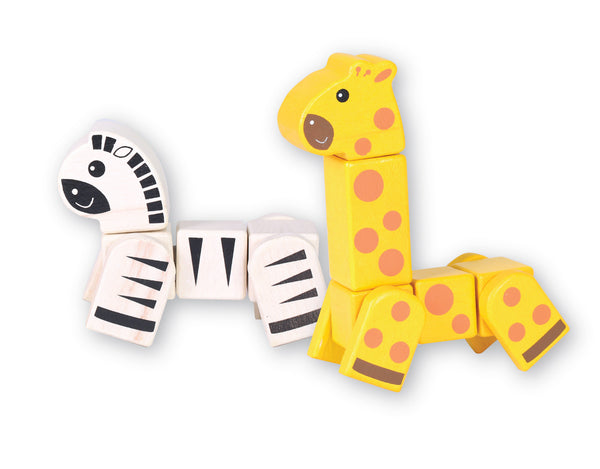 Snap Blocks - Giraffe and Zebra