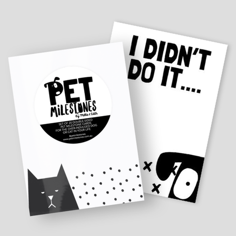 Pet Milestone Cards