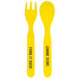 Toddler Bamboo Cutlery Set - Yellow
