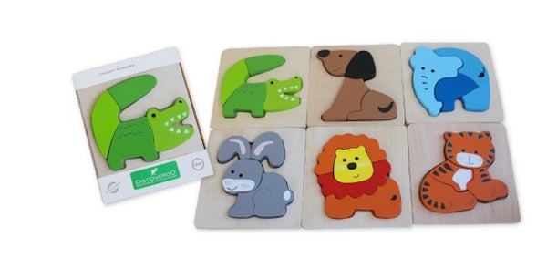 Wooden Chunky Puzzle - Animals