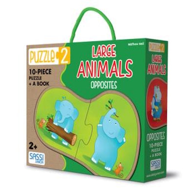 Animal Opposites - Large piece puzzle