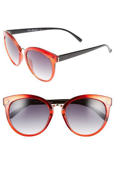 A.J. Morgan Rust Red 'Insistent' Retro Sunglasses