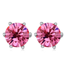Rose Swarovski Elements Crystal Round 7mm Stud Earrings
