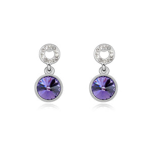 Tanzanite Swarovski Elements Crystal Drop Earrings