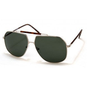 A.J. Morgan Silver 'Goliath ' Aviator Sunglasses