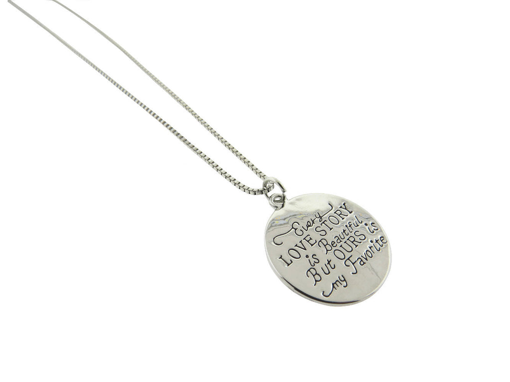 Love Story Silver Plated Pendant Necklace
