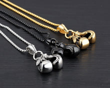 Stainless Steel Pair of Boxing Gloves Pendant Necklace