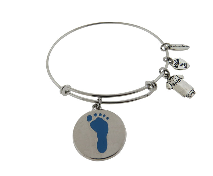 Baby Shower gift Baby Gender Reveal Stainless Steel Expandable Wire Bracelet