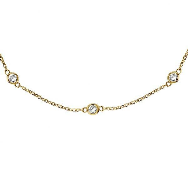 "Gold vermeil 16"" Diamonds by The Yard Necklace"