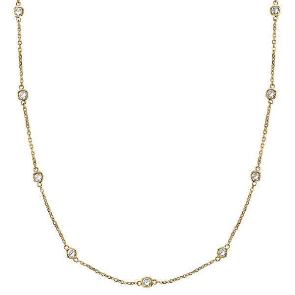 "Gold vermeil 24"" Diamonds by The Yard Necklace"