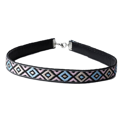 Alexis Multi Color Leather BoHo Choker Necklace