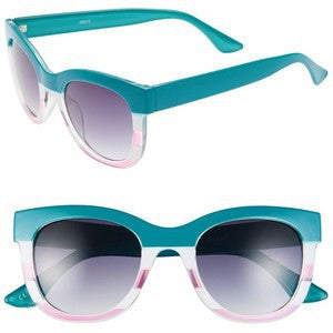 A.J. Morgan Turquoise/Pink 'Marissa' Oversized Sunglasses