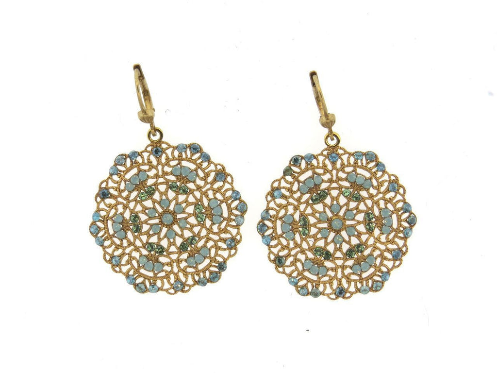 La Vie Parisienne Pacific Opal Swarovski Crystal Earrings