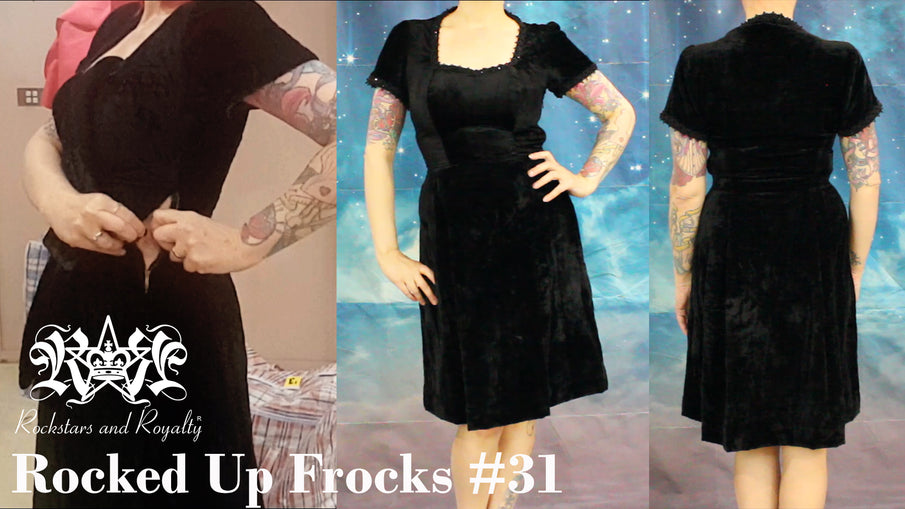 Rocked Up Frocks - Too Small Vintage Dress Revamp