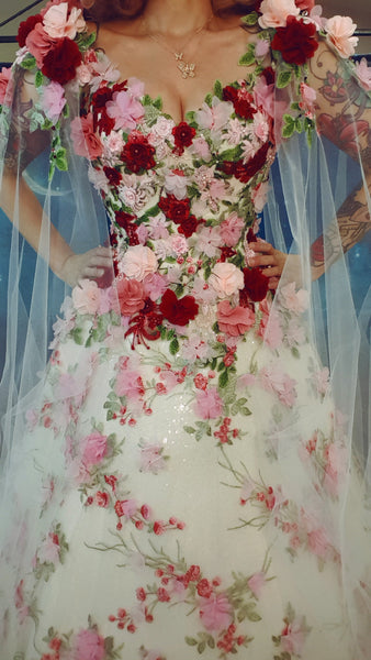 Rockstars and Royalty couture flower corset gown Flora