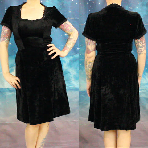 Rockstars and Royalty Black Vintage Velvet Dress Revamp YouTube Sewing Channel