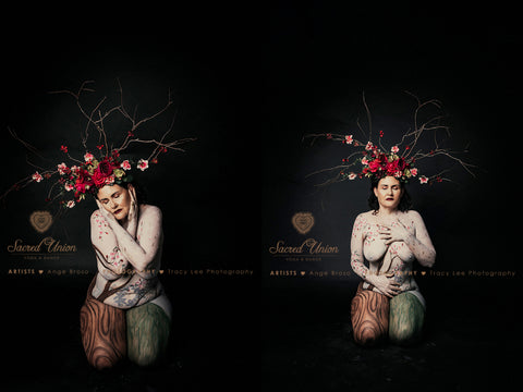 Rockstars and Royalty flower and branch headpiece