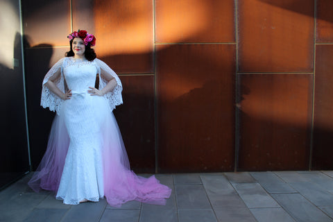 Rockstars and Royalty Couture Gown Sequin Mermaid Dress Tulle Ombre Canberra Australia