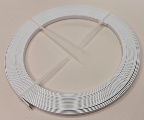 White 7mm flat sprung steel continuous boning