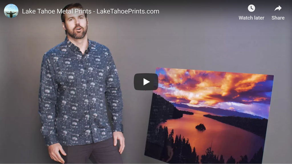 Lake Tahoe Wall Art - Metal Prints
