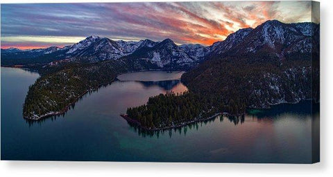 "50 Shades Of Tahoe by Brad Scott - Canvas Print-14.000"" x 6.375""-Lake Tahoe Prints"