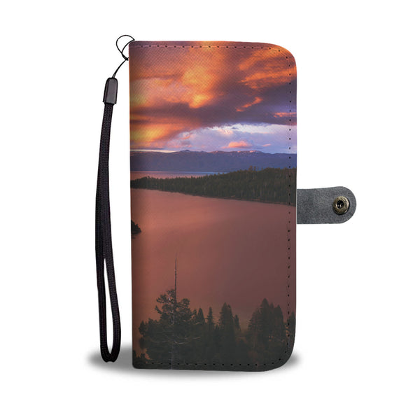 Emerald Bay Fire by Brad Scott - Phone Case Wallet