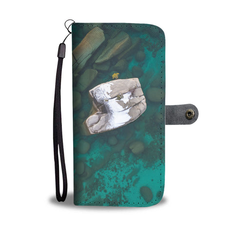 Bonsai Rock Winter Aerial by Brad Scott - Phone Case Wallet-Wallet Case-Lake Tahoe Prints
