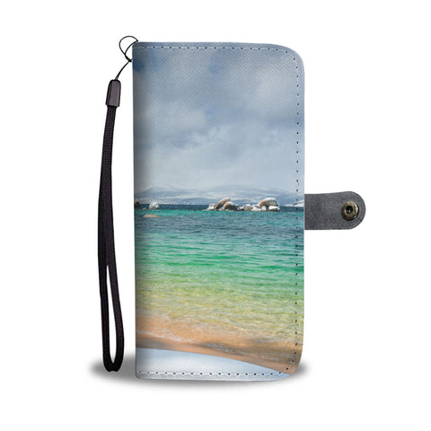 Pristine Shores by Brad Scott - Phone Case Wallet-Wallet Case-Lake Tahoe Prints