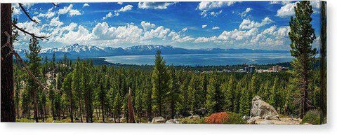 "A Heavenly View By Brad Scott - Canvas Print-20.000"" x 6.625""-Lake Tahoe Prints"
