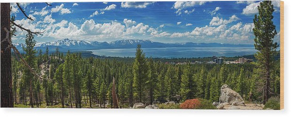 A Heavenly View By Brad Scott - Wood Print