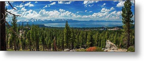 A Heavenly View By Brad Scott - Metal Print-Lake Tahoe Prints