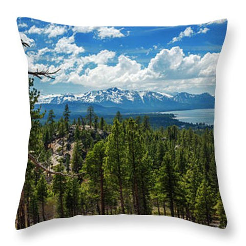 A Heavenly View By Brad Scott - Throw Pillow-Lake Tahoe Prints