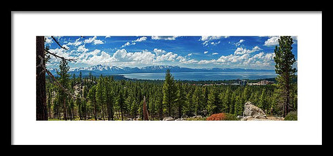 A Heavenly View By Brad Scott - Framed Print