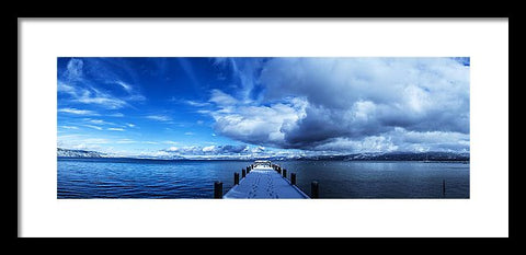 A Tahoe Winters Dream - Framed Print