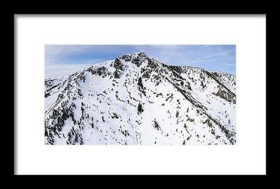 Aerial View Of Mount Tallac, Lake Tahoe - Framed Print-Lake Tahoe Prints