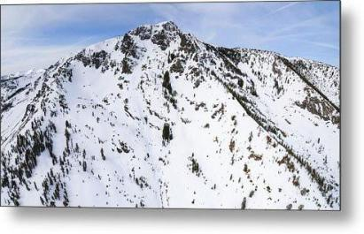 Aerial View Of Mount Tallac, Lake Tahoe - Metal Print-Lake Tahoe Prints