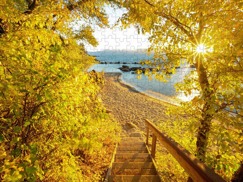 Autumn Steps - Lake Tahoe - Puzzle