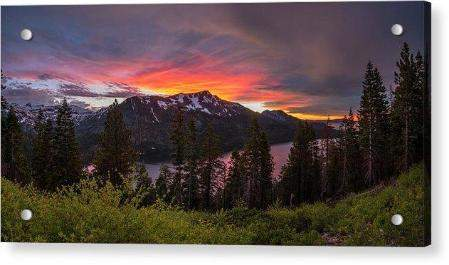 Blinding Light by Brad Scott - Acrylic Print-Lake Tahoe Prints