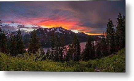 Blinding Light by Brad Scott - Metal Print-Metal Print-Lake Tahoe Prints