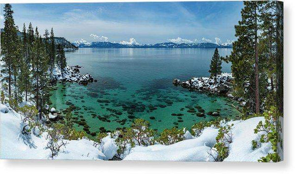 "Blue Bird Secret Cove By Brad Scott - Canvas Print-12.000"" x 6.000""-Lake Tahoe Prints"