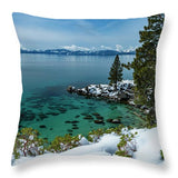 Blue Bird Secret Cove By Brad Scott - Throw Pillow-Lake Tahoe Prints