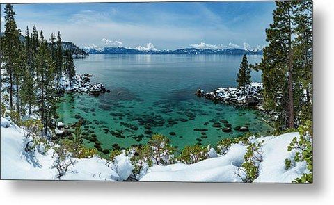 Blue Bird Secret Cove By Brad Scott - Metal Print-Lake Tahoe Prints