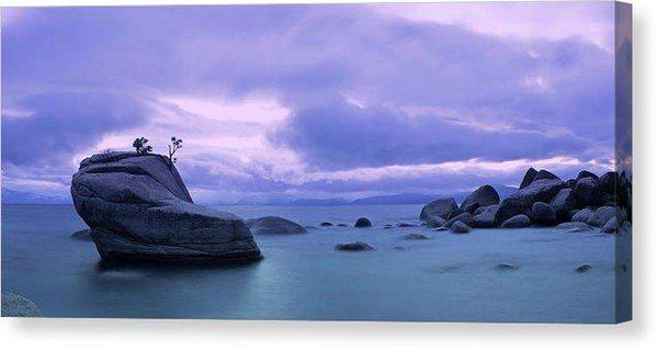 "Bonsai Rock Blues By Brad Scott - Canvas Print-14.000"" x 6.250""-Lake Tahoe Prints"