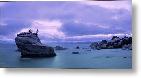 Bonsai Rock Blues By Brad Scott - Metal Print-Lake Tahoe Prints