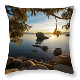Bonsai Rock Sunburst - Throw Pillow