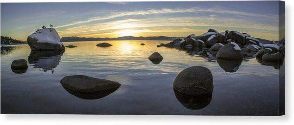 "Bonsai Rock Sunset - Canvas Print-20.000"" x 7.125""-Lake Tahoe Prints"